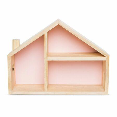 Casinha de Boneca com fundo rosa candy.