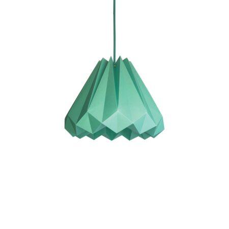 luminária pendente de papel Iluminoo - modelo Bétula Turquesa