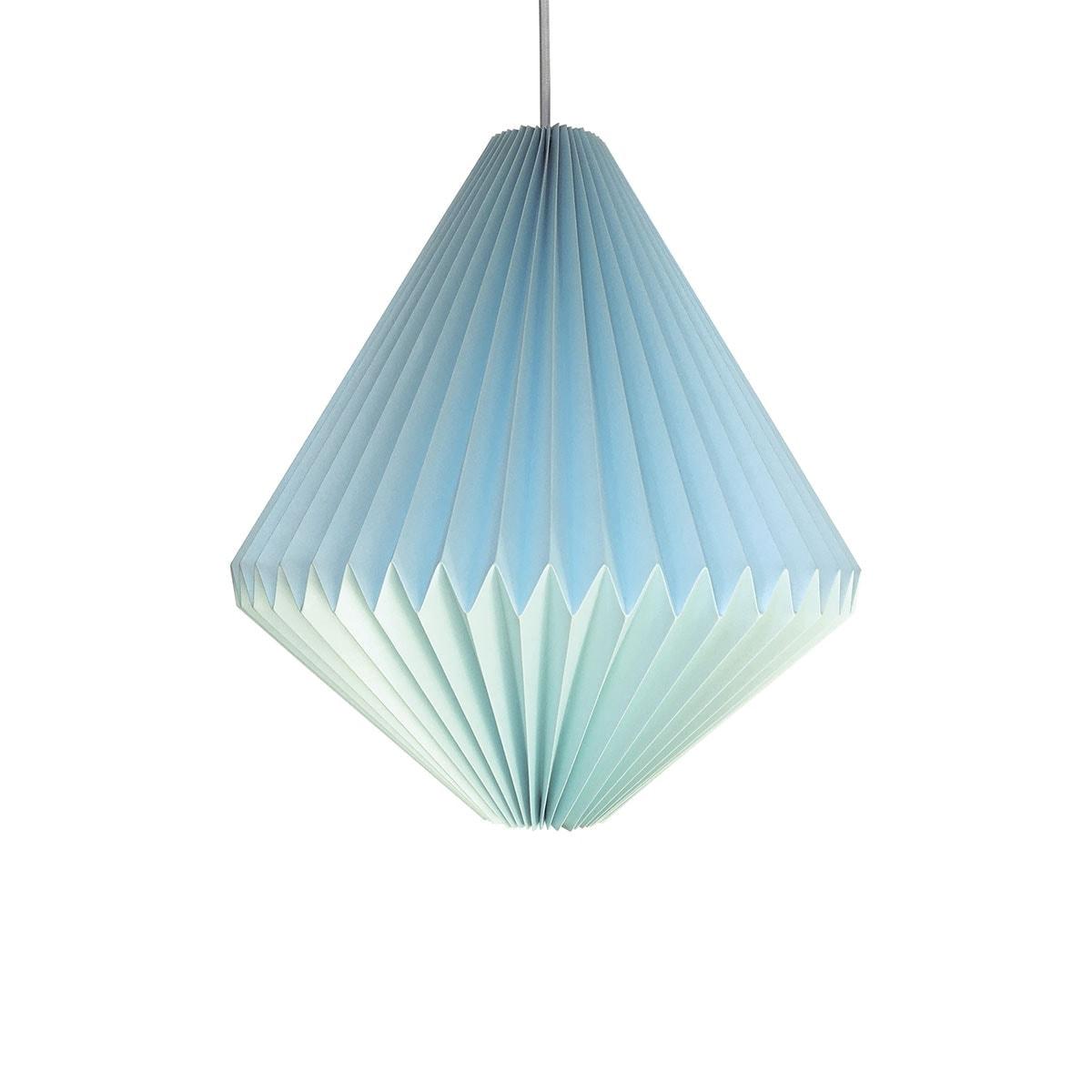 luminária pendente de papel Iluminoo - modelo Balão Água Marinha