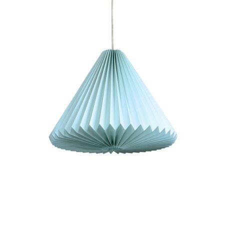 luminária pendente de papel Iluminoo - modelo Iris - Água Marinha