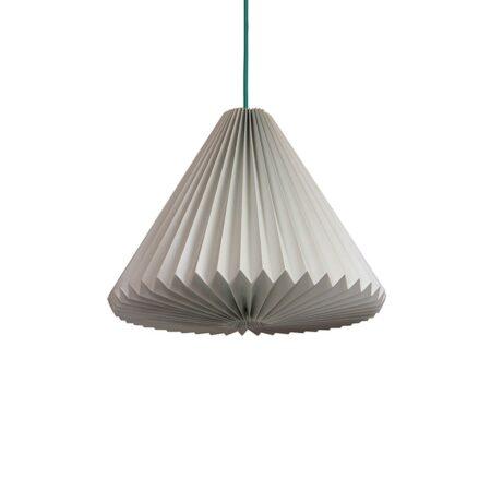 luminária pendente de papel Iluminoo - modelo Iris - Aluminium