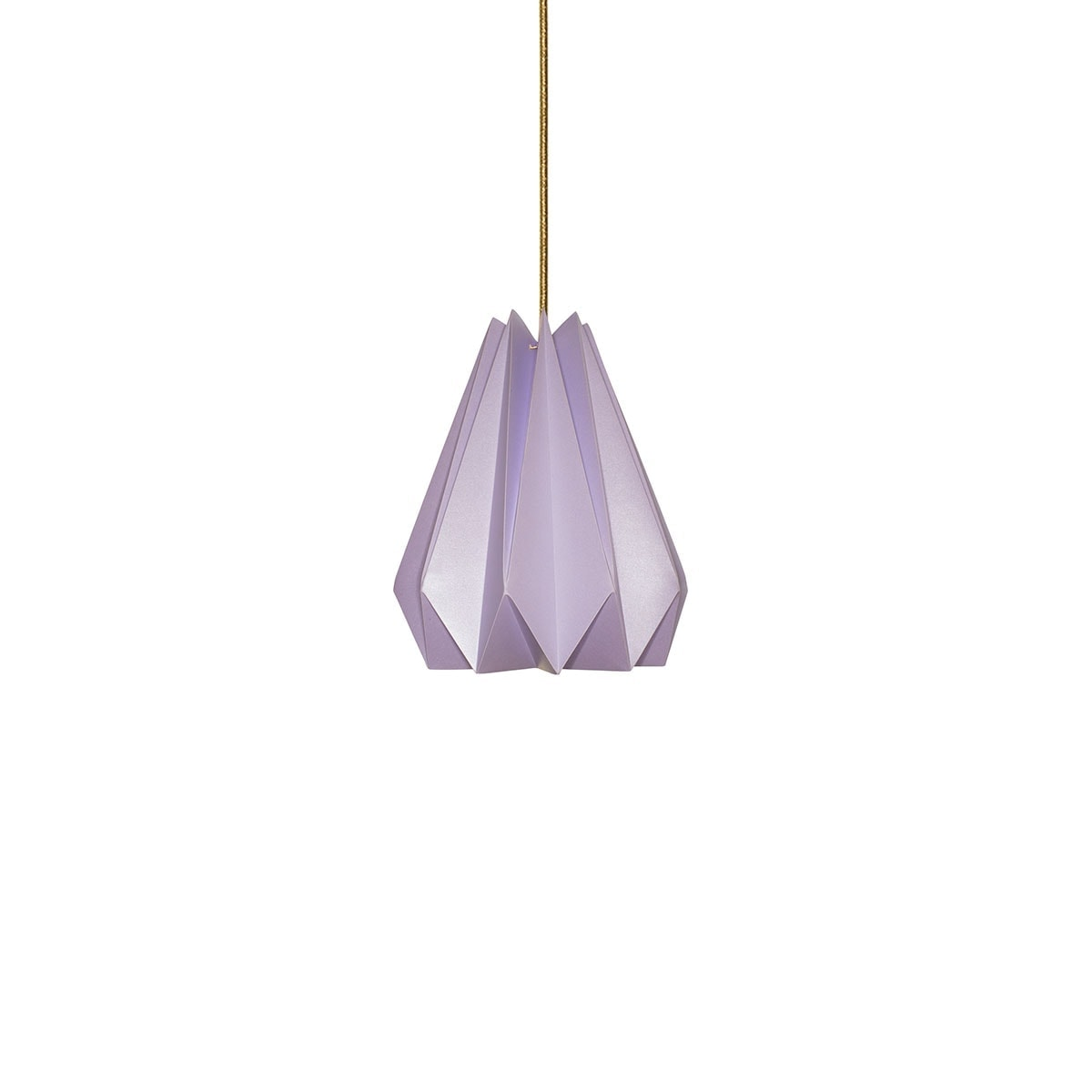 luminária pendente de papel Iluminoo - modelo Pinho (20) - Lilac