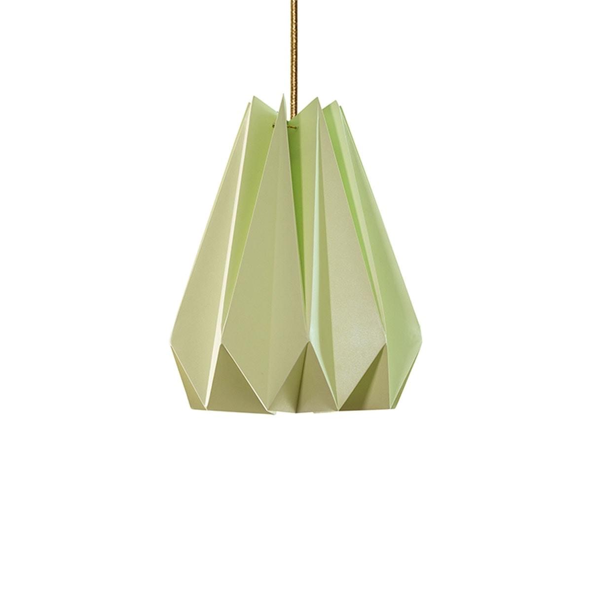 luminária pendente de papel Iluminoo - modelo Pinho (30) - Moscatel