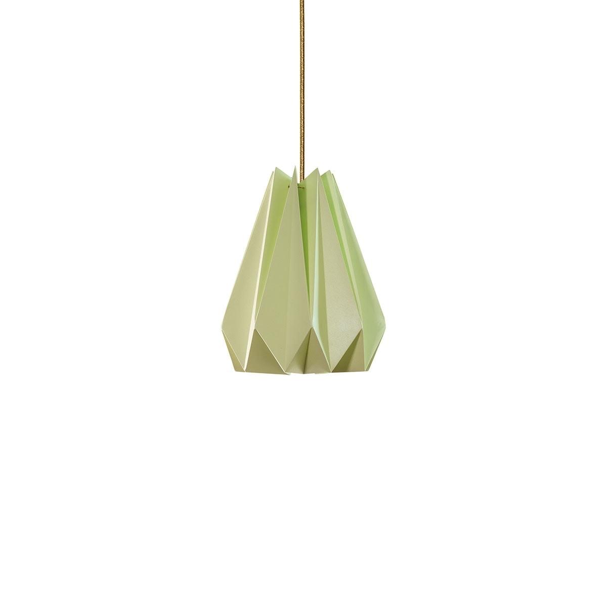 luminária pendente de papel Iluminoo - modelo Pinho (20) - Moscatel