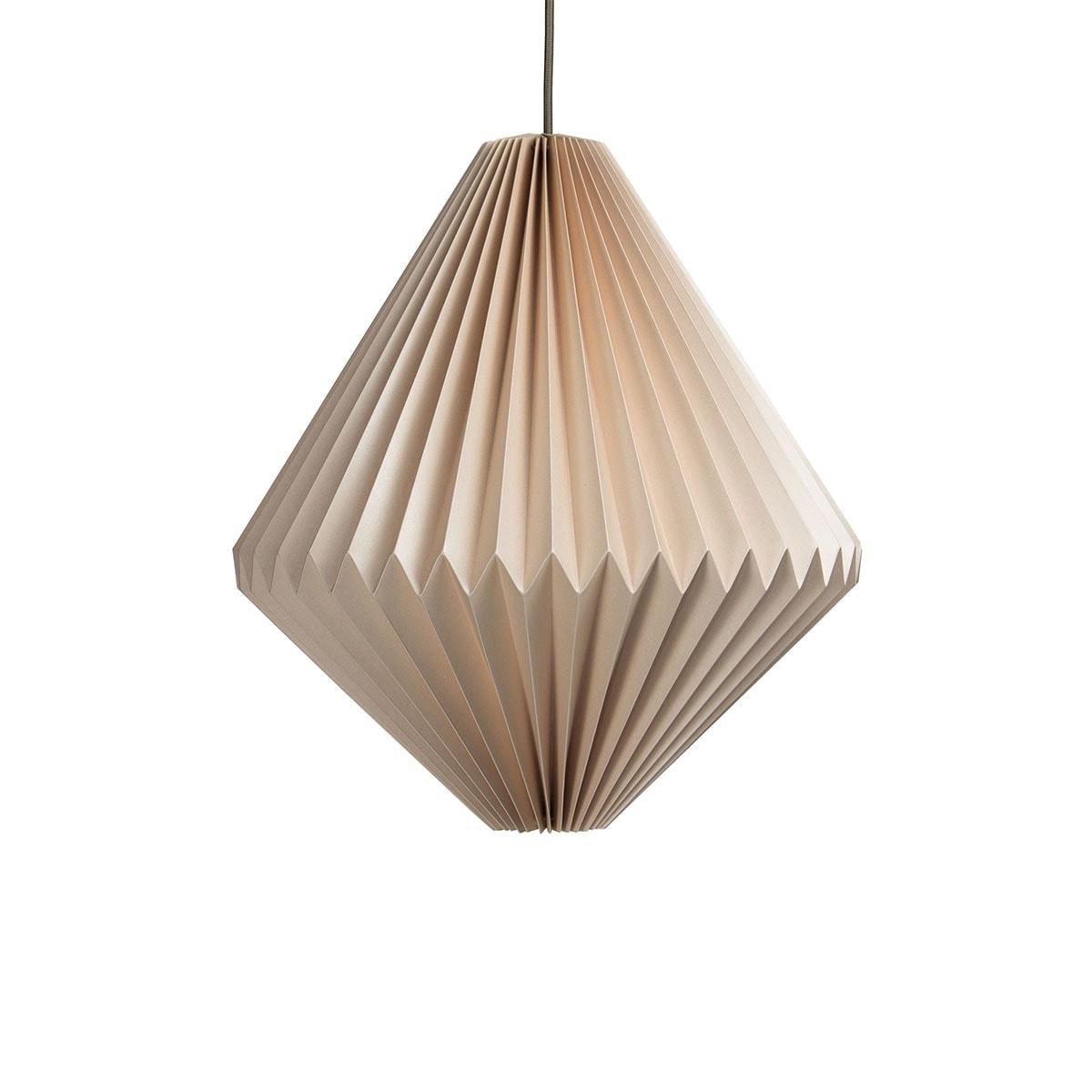 luminária pendente de papel Iluminoo - modelo Balão Nude