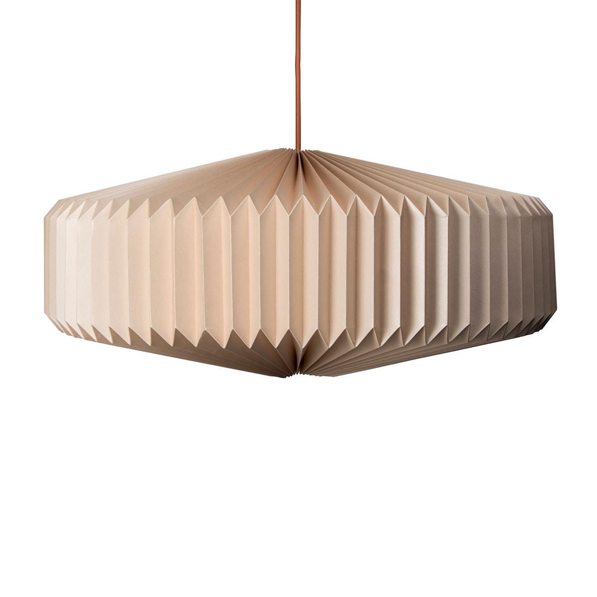 luminária pendente de papel Iluminoo - modelo Disco - Nude