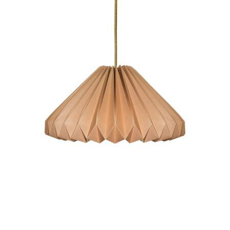 luminária pendente de papel Iluminoo - modelo Margarida - Nude