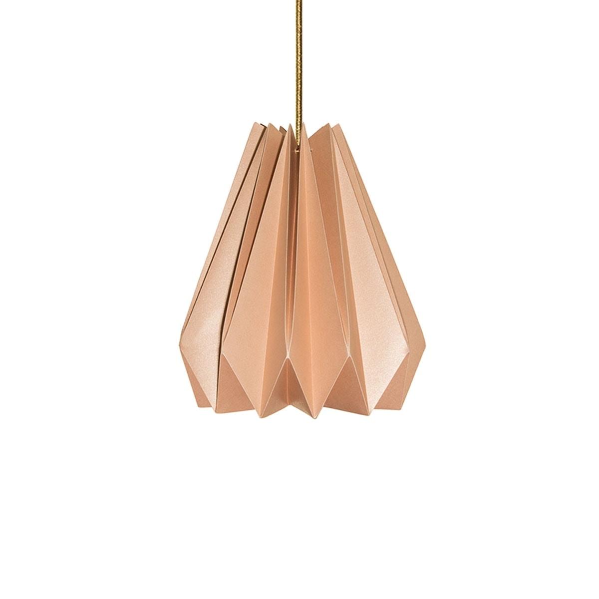 luminária pendente de papel Iluminoo - modelo Pinho (30) - Nude 1