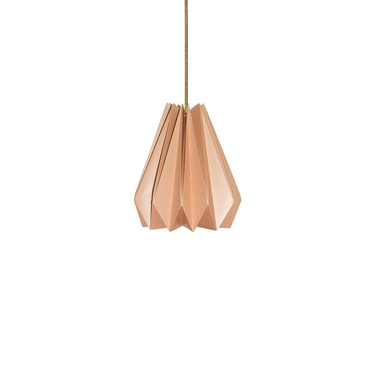 luminária pendente de papel Iluminoo - modelo Pinho (20) - Nude 1
