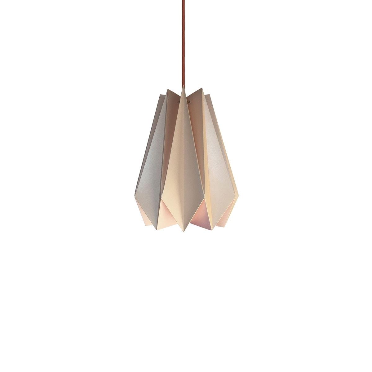 luminária pendente de papel Iluminoo - modelo Pinho (20) - Nude 2