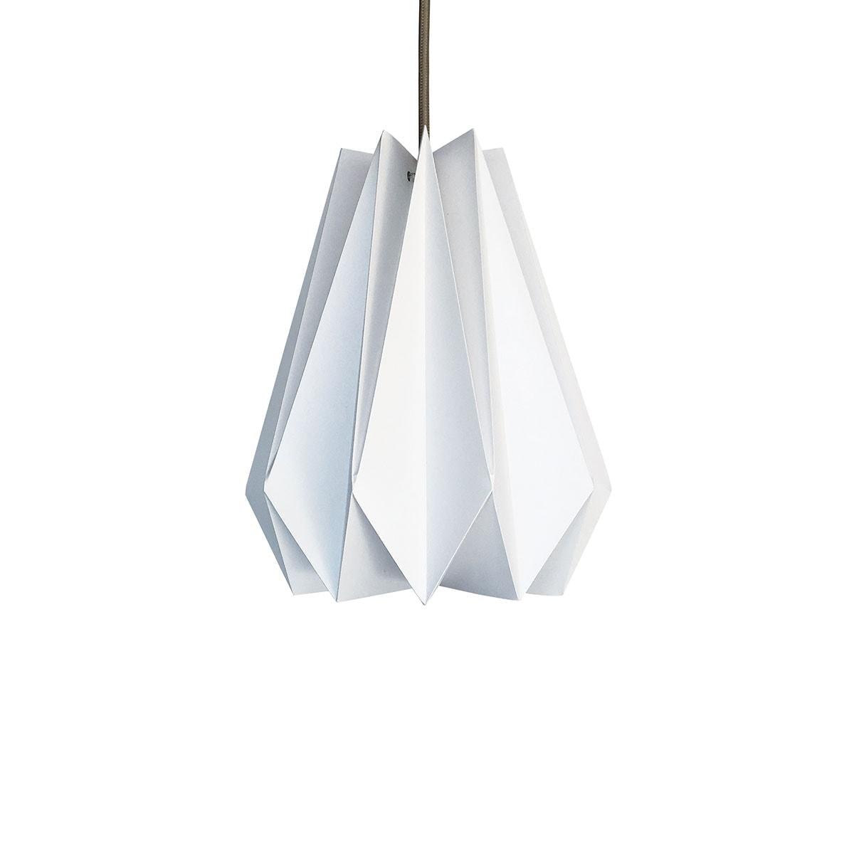 luminária pendente de papel Iluminoo - modelo Pinho (30) - Virtual 1