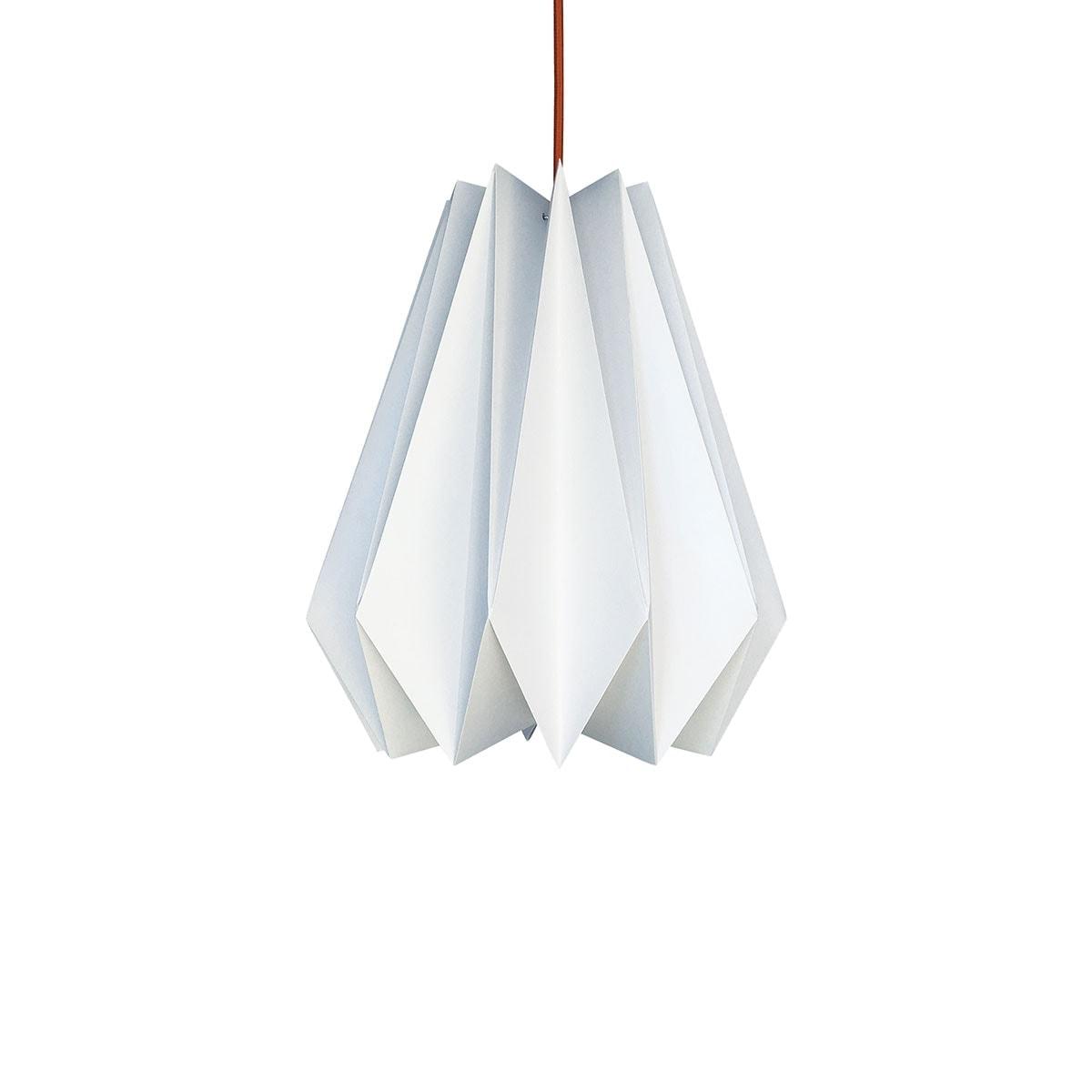 luminária pendente de papel Iluminoo - modelo Pinho (30) - Virtual 2