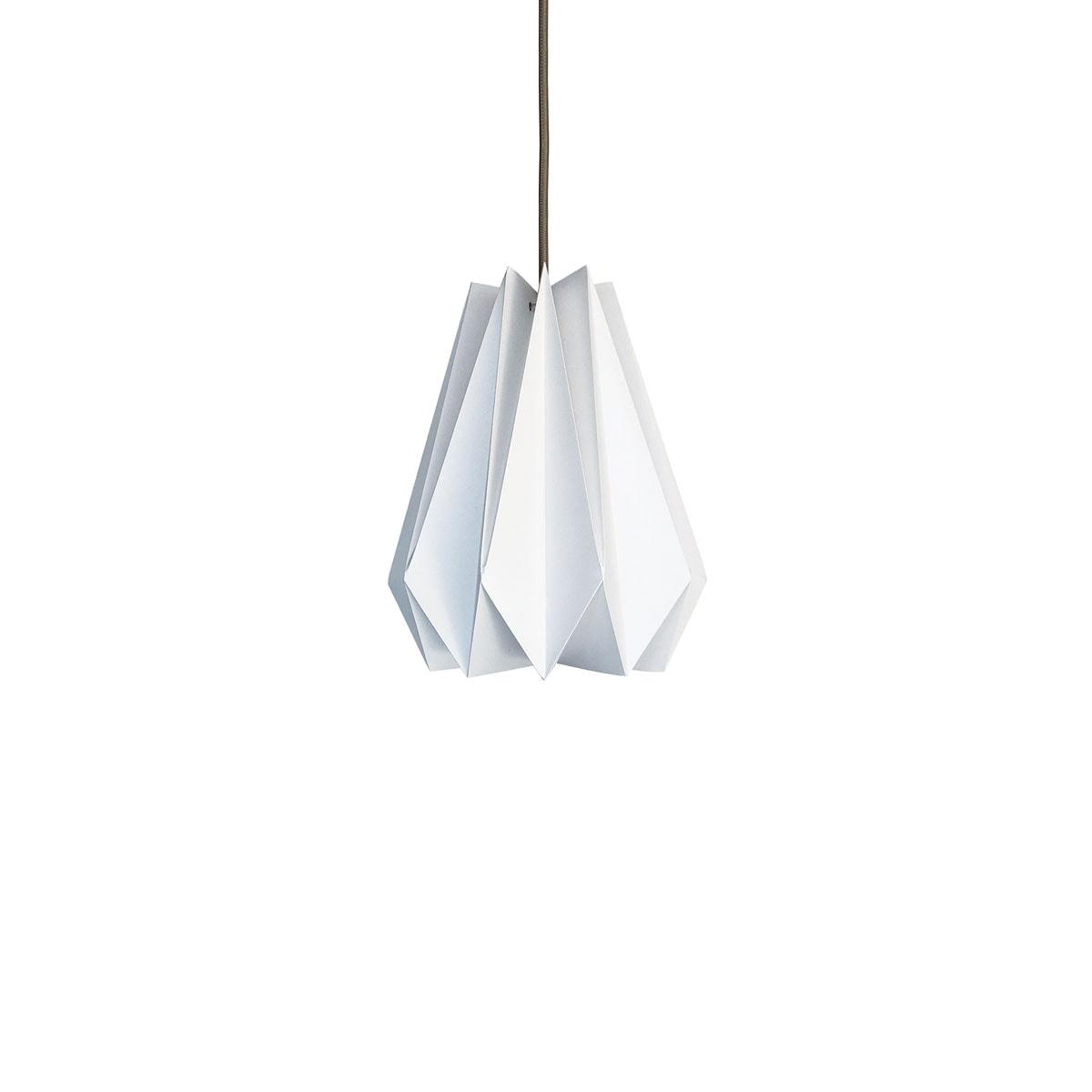 luminária pendente de papel Iluminoo - modelo Pinho (20) - Virtual 2