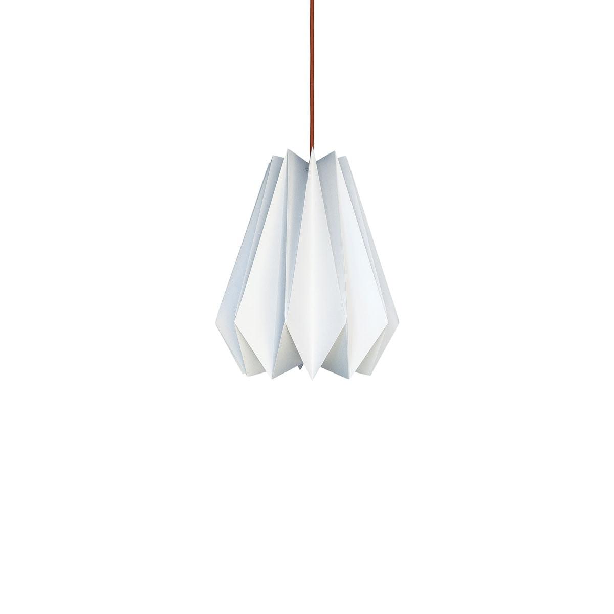luminária pendente de papel Iluminoo - modelo Pinho (20) - Virtual 1