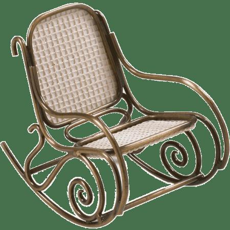 Miniatura Cadeira Balanço Thonet
