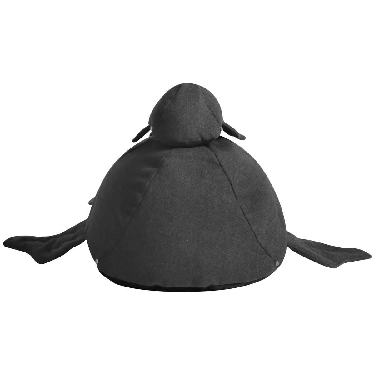 Almofada Baleia Tecido Feltro Gris 01comp