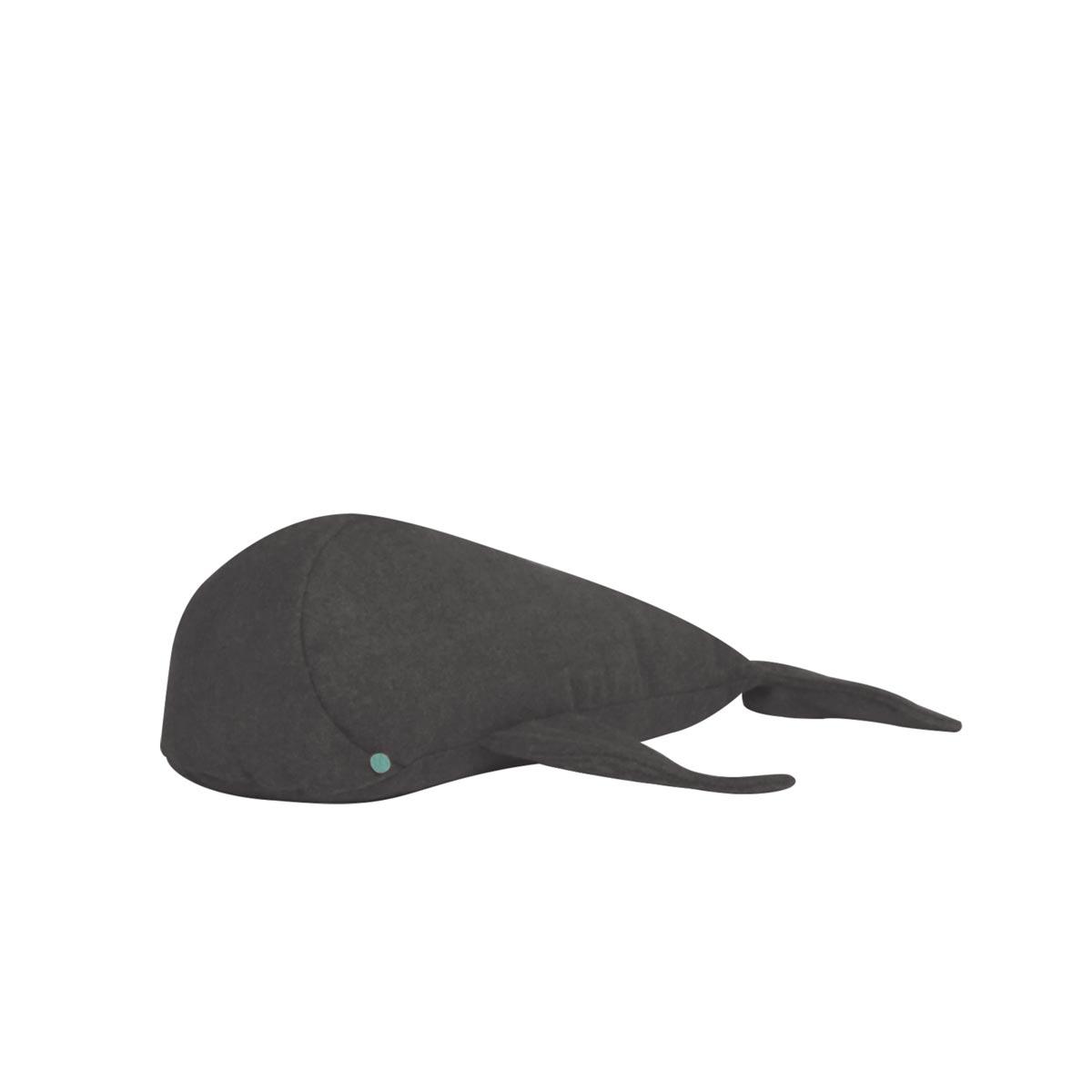 Almofada Baleia Tecido Feltro Gris 02