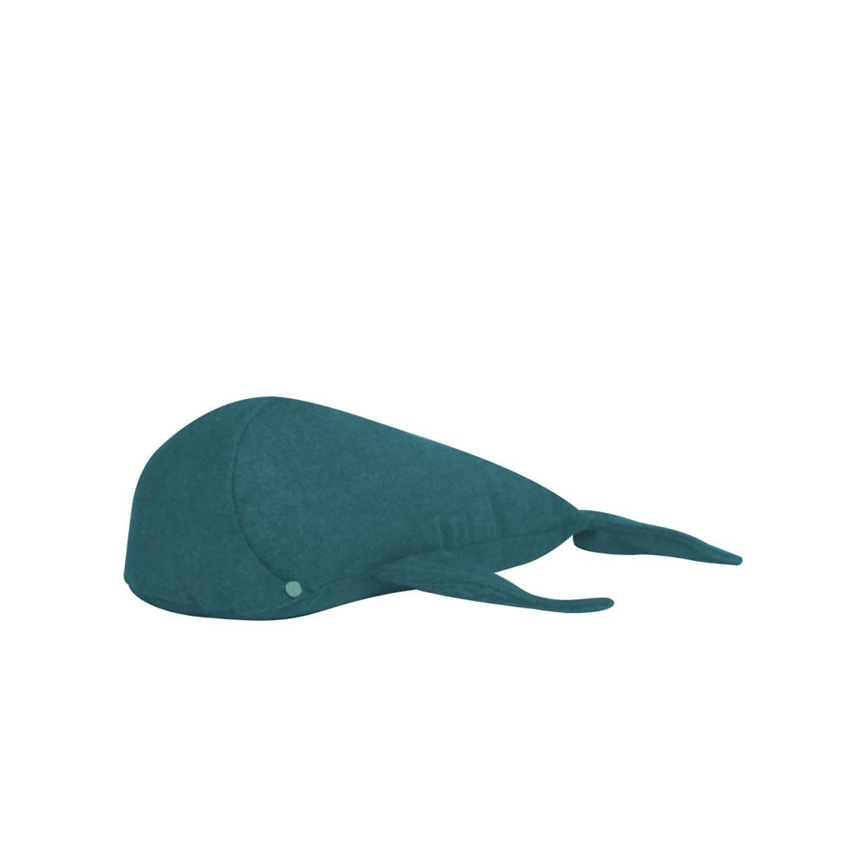 Almofada Baleia Tecido Feltro Petroleo 02