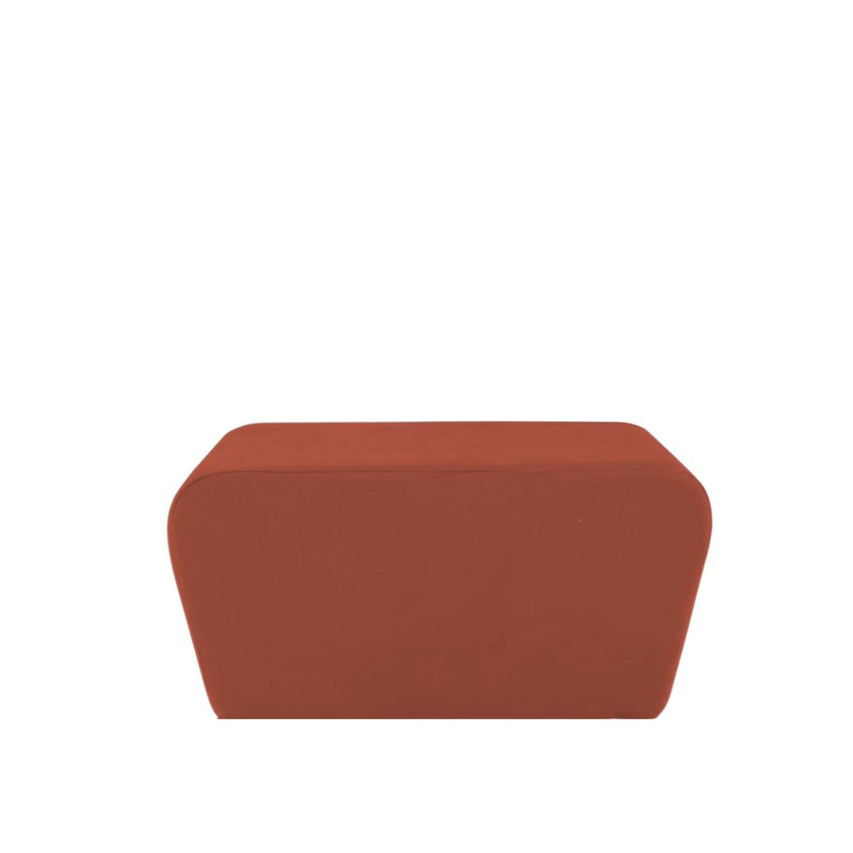 Pufe Muss R02 Tecido Lonita Terracota 03