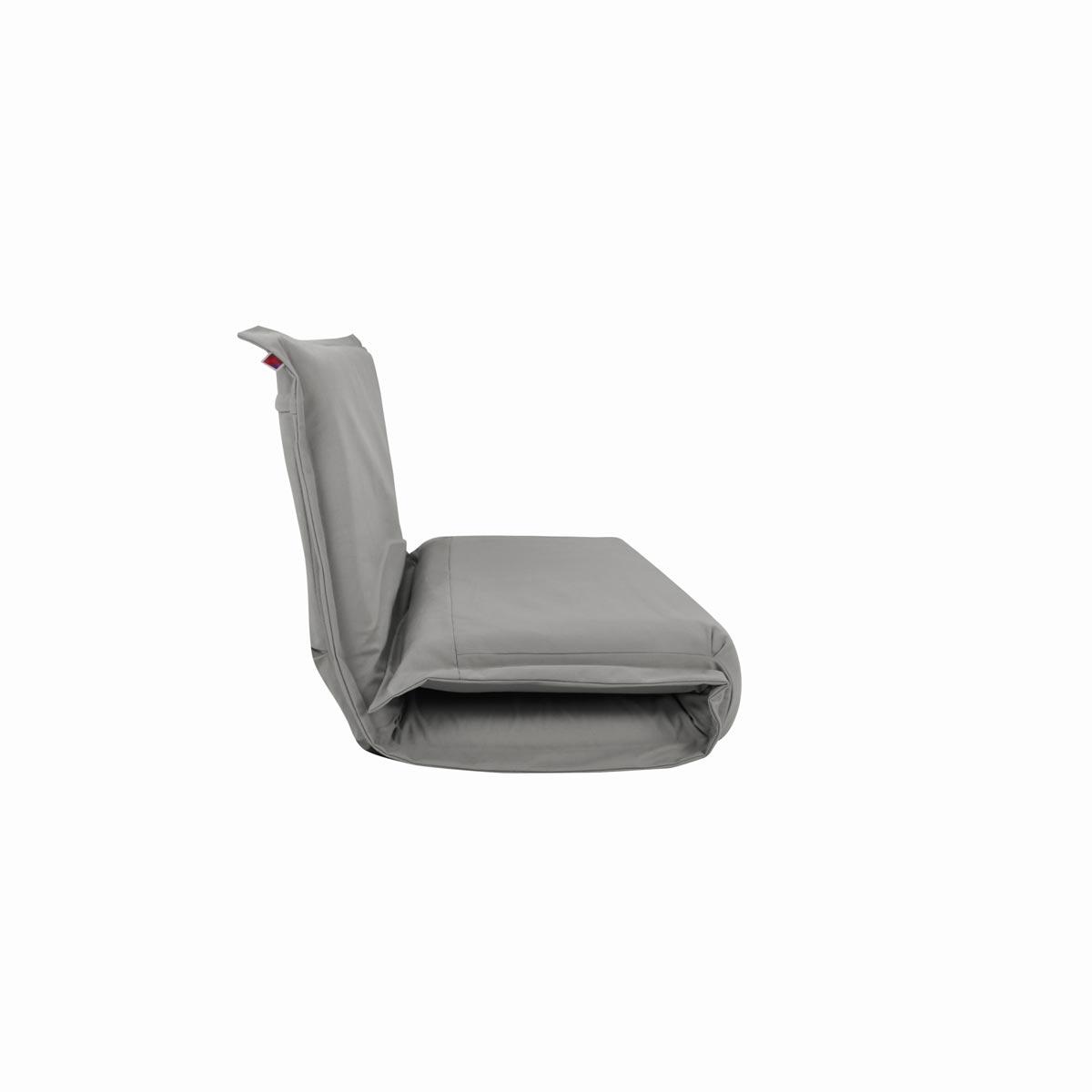 Pufe ClicClac Duo Lounge Tecido LN03 Cinza Claro 03 04