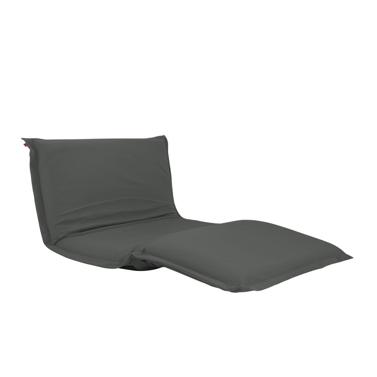 Pufe ClicClac Duo Lounge Tecido LN03 Cinza Escuro 02 03