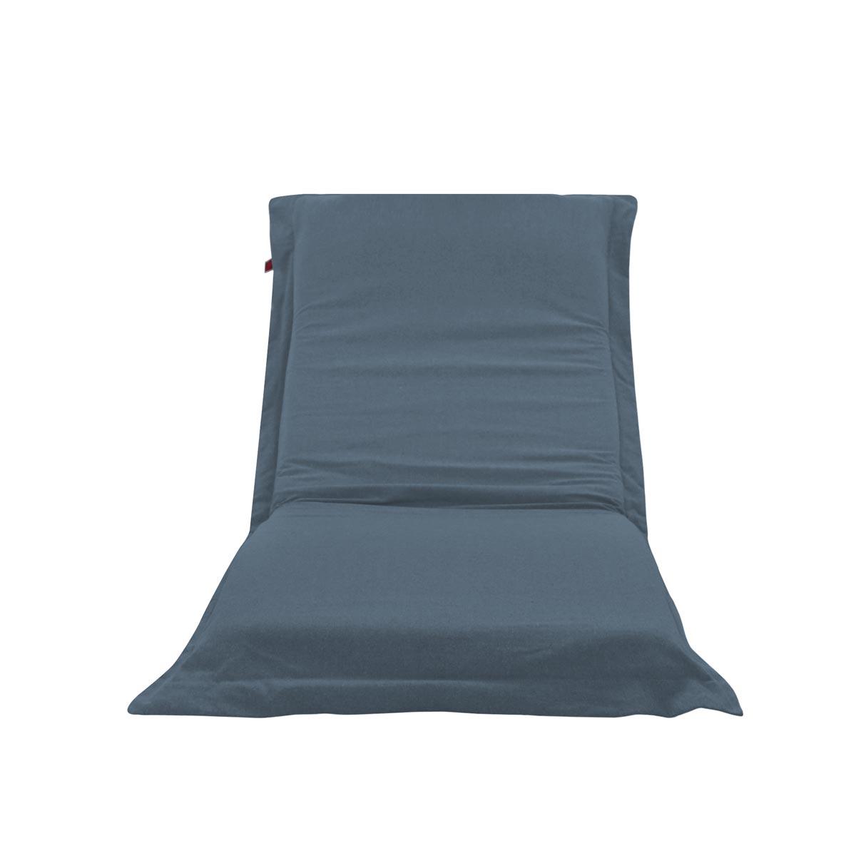 Pufe ClicClac Uno Lounge Tecido Ecolona Jeans Blue 01 02