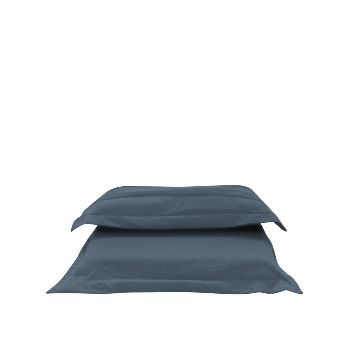Pufe ClicClac Uno Lounge Tecido Ecolona Jeans Blue 01 04