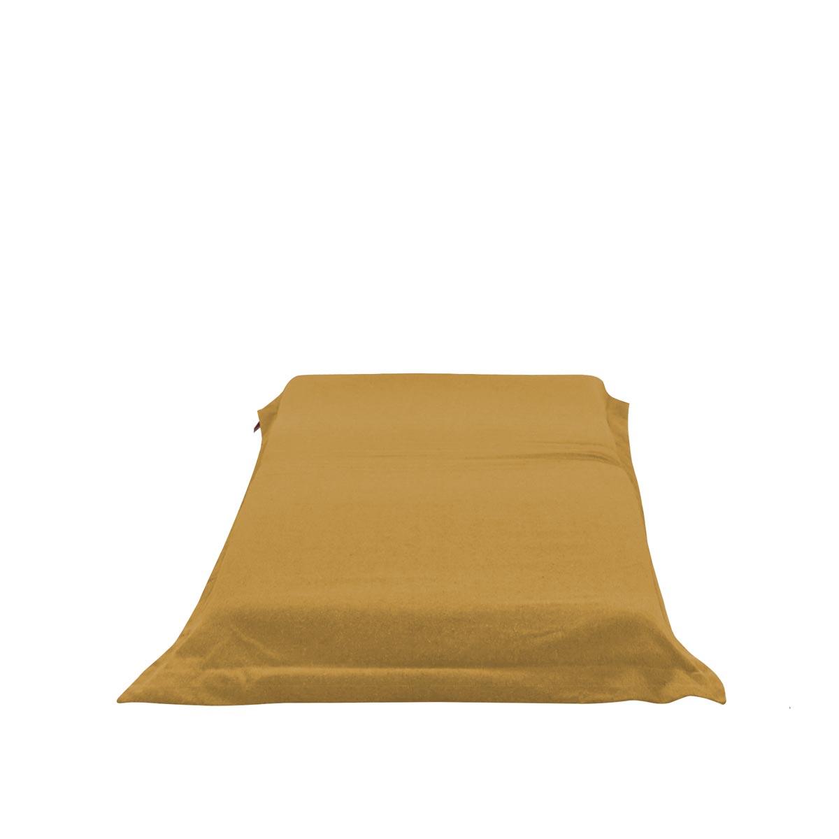 Pufe ClicClac Uno Lounge Tecido Ecolona Mostarda 01 01