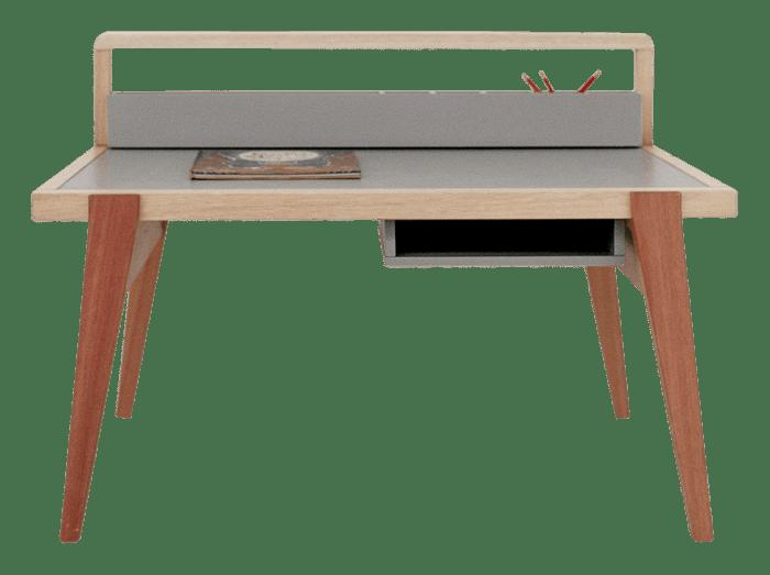 Escrivaninha Nórdica Evolutiva Eucalipto Maciço &Amp;Bull; Escrivaninha - 1 &Amp;Bull; Deezign