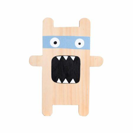 Plaquinha Monster azul