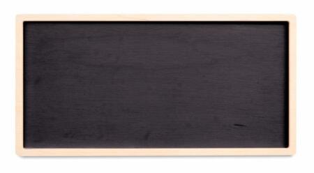 Bandeja Angulus retangular de madeira Fitto
