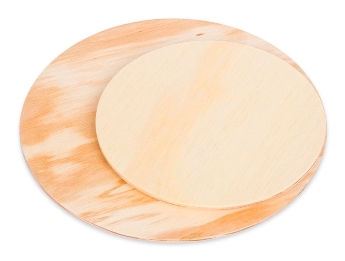 Bandeja redonda de madeira Fitto