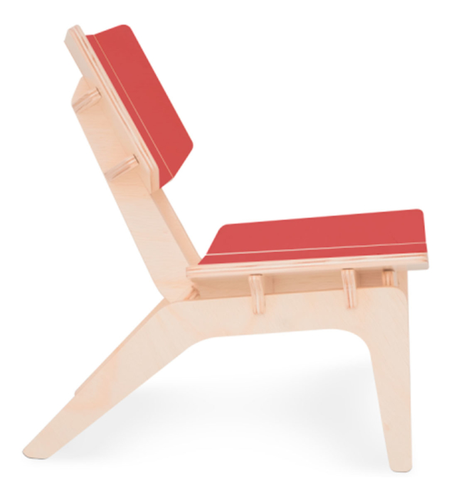Cadeira Infantil Carambelinha De Madeira Natural Fitto