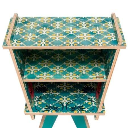 Mesa de apoio de madeira Natural Fitto