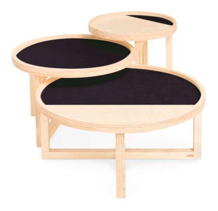 Mesa de centro de madeira natural Vinil da Fitto