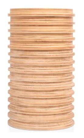 Vaso redondo de madeira decorativo Fitto