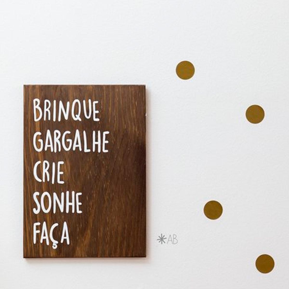 Plaquinha Brinque Madeira &Bull; Plaquinha Brinque - 2 &Bull; Deezign