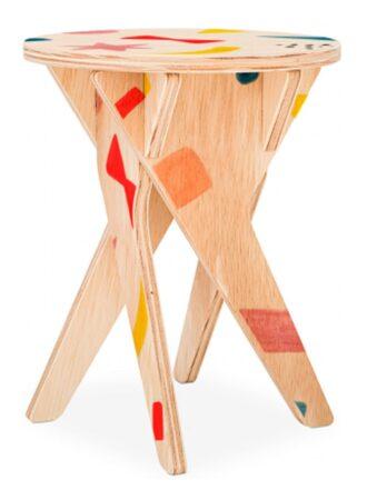 Banquinho infantil Benchi de madeira natural Fitto