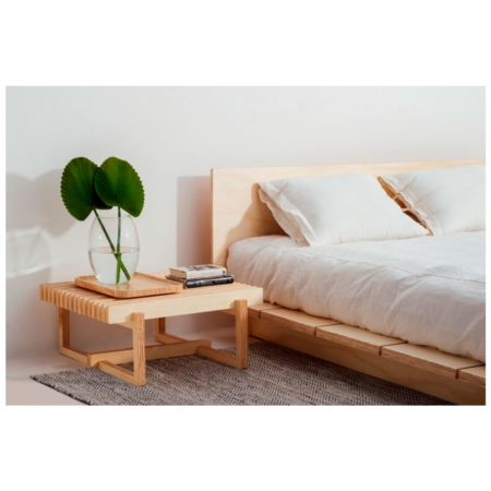 Cama de casal de madeira Fitto