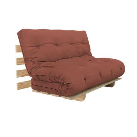 Sofa Cama BYO Casal 140 Sarja Peletizada Argila vermelha 02