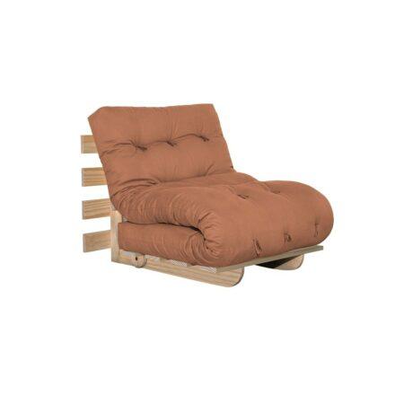 Sofa cama BYO Solteiro 80 Sarja Peletizada Laranja Sertão 02