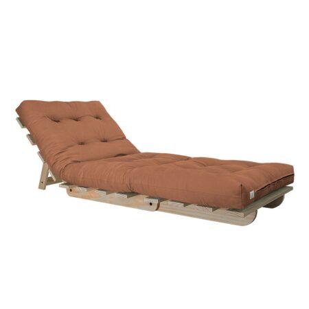 Sofa cama BYO Solteiro 80 Sarja Peletizada Laranja Sertão 03
