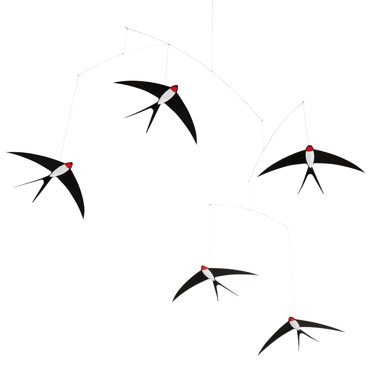 Móbile Andorinhas Voando 5 Flensted &Amp;Bull; Flying Swallows 5 - 1 &Amp;Bull; Deezign